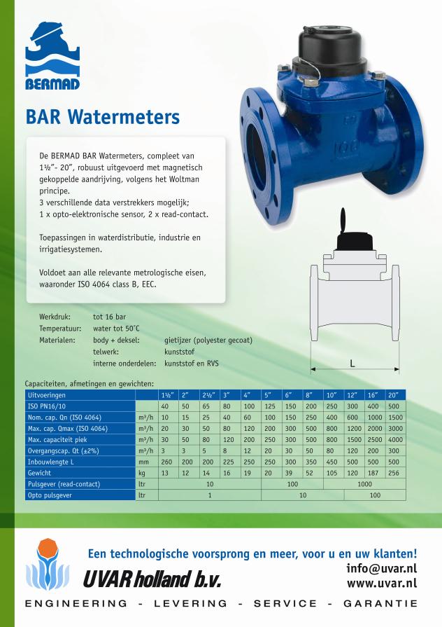 Flyer BAR watermeter