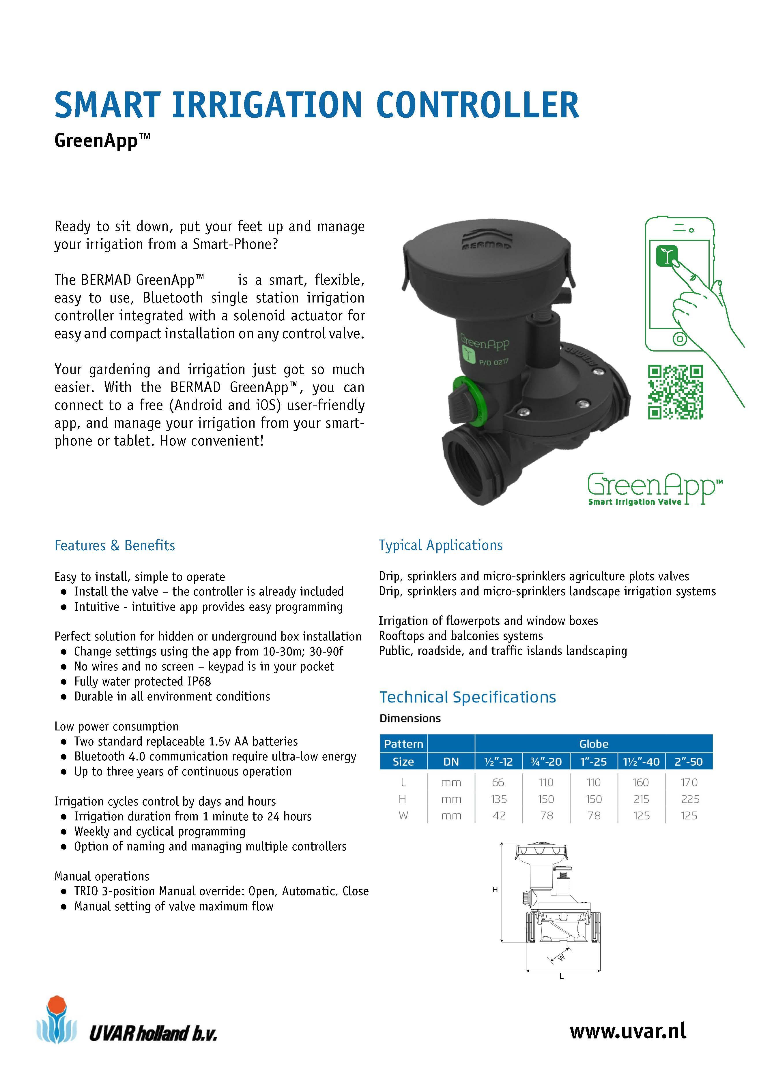 Smart Irrigation Controller Greenapp
